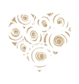 Craft paper heart with white swirls vector image vector image