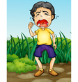 Crying boy vector image vector image