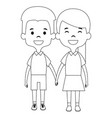 cute and little kids couple vector image vector image