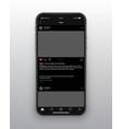 design template instagram dark mode app ui vector image vector image