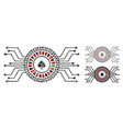 digital casino roulette composition icon uneven vector image vector image