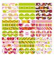 Easter set of border design elements vector image vector image