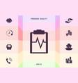 electrocardiogram icon symbol graphic elements vector image