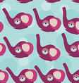 Elephant Seamless pattern with funny cute animal vector image