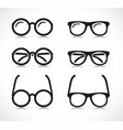 eye glasses silhouette icon vector image vector image
