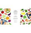 flat healthy diet concept vector image