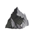 flat icon of high gray mountain with sharp vector image vector image