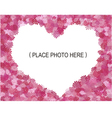 flowers frame shape heart vector image vector image