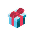 gift box online shopping isometric icon vector image