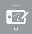graphic drawing tablet - flat minimal icon vector image vector image