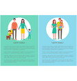 happy family posters with text vector image vector image