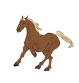 horse running color vector image vector image