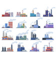 industrial factory manufacturing building vector image