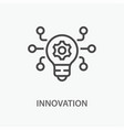 innovation line icon on white background