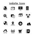 internet browser website icon set vector image