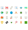 IT technology icons set vector image vector image