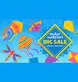 kite festival sale traditional indian celebration vector image vector image