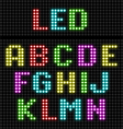 LED display alphabet vector image vector image