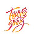 lettering thanksgiving paint texture hand drawn vector image vector image