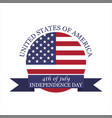 logo 4th july independence day vector image