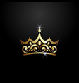 luxury crown logo vector image