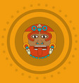 maya face design vector image vector image