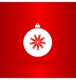 Nice christmas white ball vector image vector image