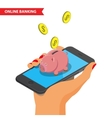 Online banking vector image vector image