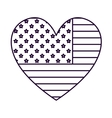 patriotic heart isolated icon design vector image vector image