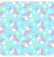 pattern with colorful unicorns vector image vector image
