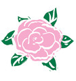 pink rose for valentines day vector image vector image