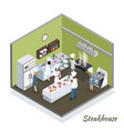 professional steakhouse kitchen interior vector image vector image