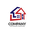 property and construction logo vector image vector image