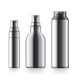 realistic black cosmetic bottle can sprayer vector image vector image