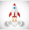 rocket launchship eps 10 vector image vector image