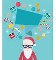 Santa Claus wearing glasses with a speech bubble vector image vector image