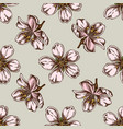 seamless pattern with hand drawn colored almond vector image
