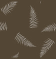 seamless stylized white fern leaves pattern vector image