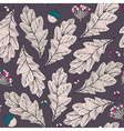 seamless texture with leaves and flowers on dark vector image vector image