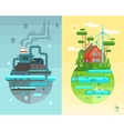 Set of flat design concept vector image vector image