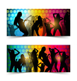 silhouette dancing girl vector image vector image