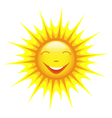 Smiling cute sun cartoon vector image vector image