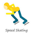 speed skating icon isometric style vector image