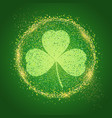 st patricks day background with shamrock vector image vector image