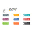 startup infographic 10 option line concept vector image