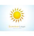 summer logo label Summer icon vector image vector image