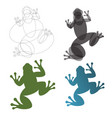 toad frog construction mark vector image