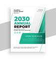 turquoise color business annual report brochure vector image vector image