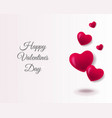 valentines day poster with red hearts with text vector image vector image