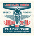 vintage poster for club bikers grunge vector image vector image